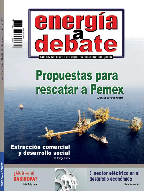 Consulte la revista Energía a Debate No. 87, septiembre-octubre 2018