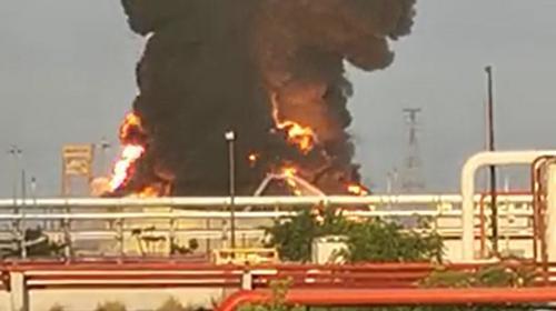 Explosión en un tanque de combustible en el Complejo Pajaritos