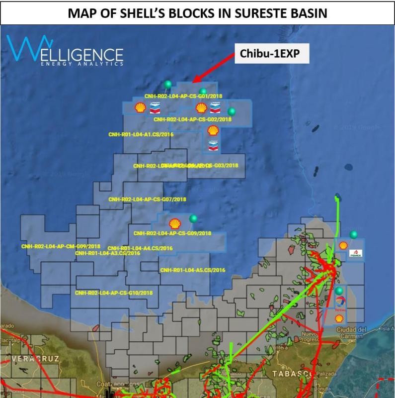 Perforarán Shell y Chevron el pozo Chibu1 en aguas profundas