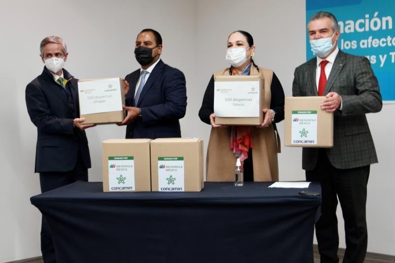 Dona Iberdrola México despensas para Tabasco y Chiapas
