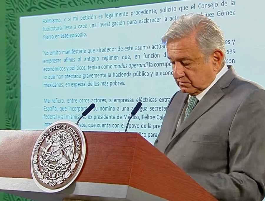 Pide AMLO investigar a juez Gómez Fierro; envía carta a la SCJN