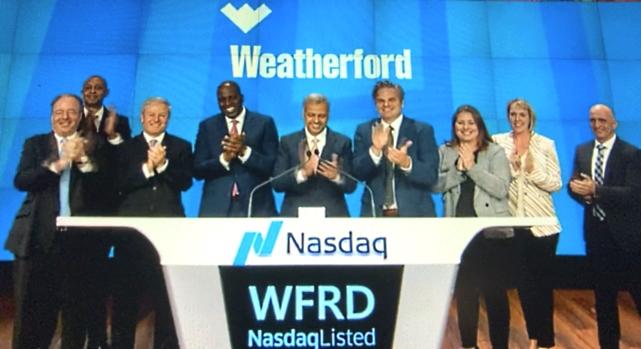 Re-enlista NASDAQ acciones de Weatherford