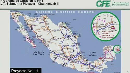 Retoma CFE proyecto de cable submarino en Cozumel
