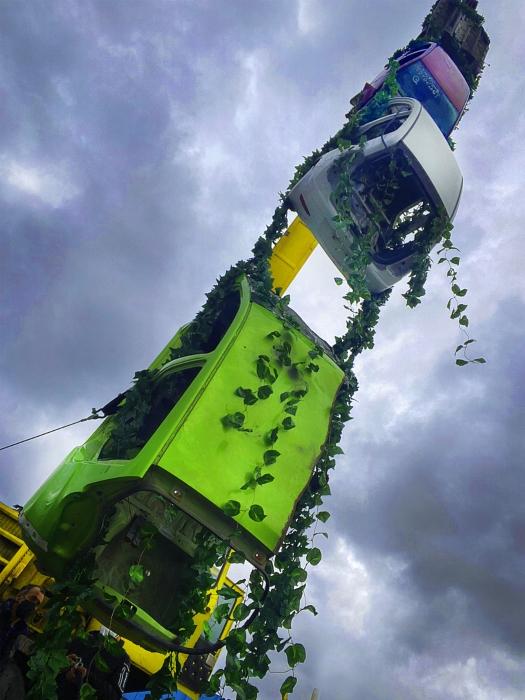 Con arte impulsan la Transición Energética en Puebla