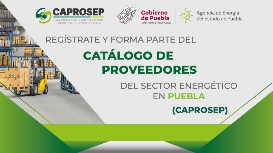 Lanza Agencia de Energía de Puebla registro para el Catálogo de Proveedores