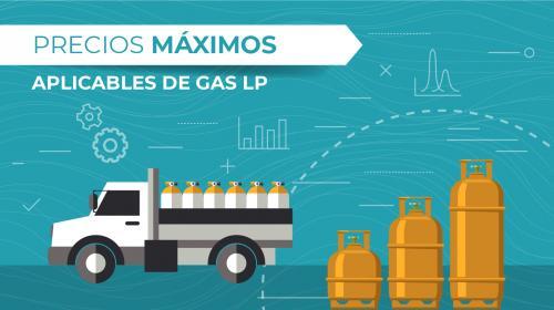 Publican tabla de precios máximos de venta de gas LP