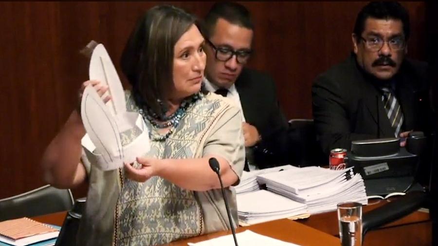 Aprueba Senado candidatos a la CRE; X. Gálvez les pone orejas de burro