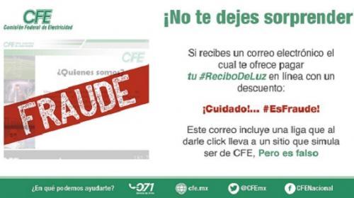 Advierten virus malicioso en correos de CFE, para robar datos